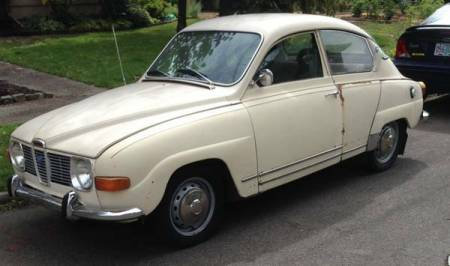 1969 Saab 96 left front