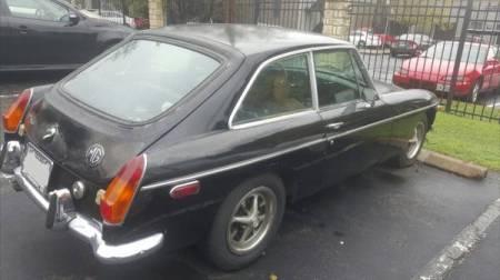 1972 MGB GT right rear