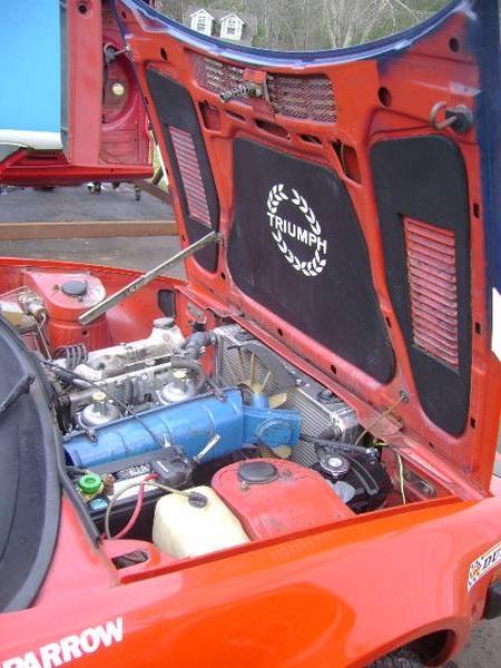 1977 Triumph TR7 coupe engine