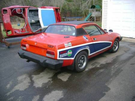 1977 Triumph TR7 coupe right rear