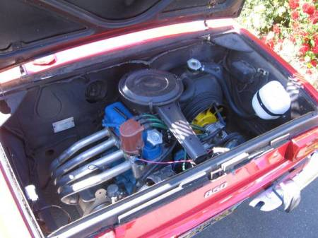 1970 Fiat 850 Spider 3 engine
