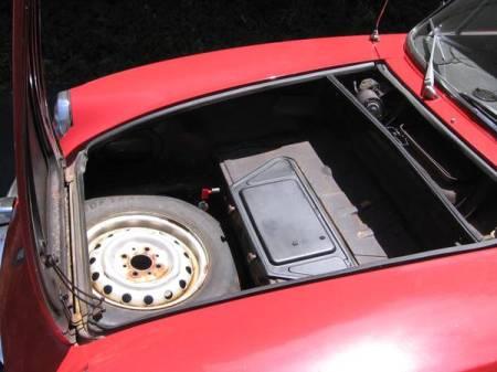 1970 Fiat 850 Spider 3 frunk