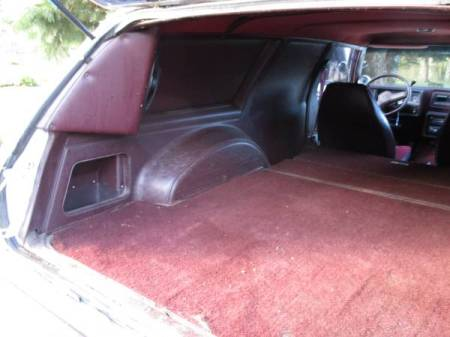 1980 Chevrolet Malibu Sedan Delivery interior trunk