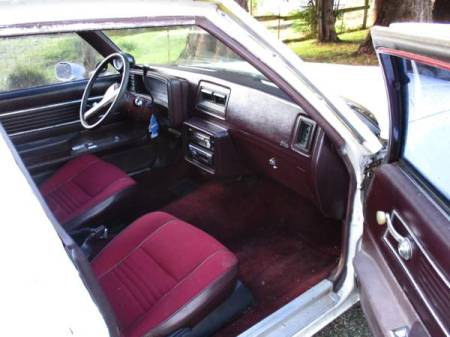 1980 Chevrolet Malibu Sedan Delivery interior