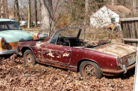 1964 Innocenti S Spider left rear