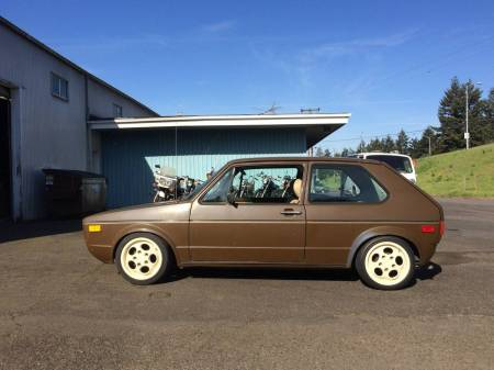 1977 VW Rabbit left side