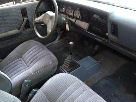 1988 Dodge Aries Turbo interior