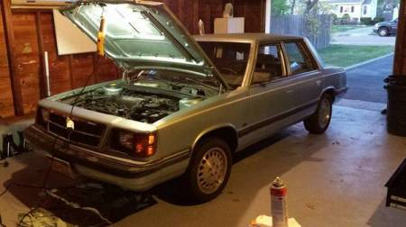 1988 Dodge Aries Turbo left front