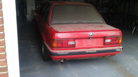 1991 BMW 318iS left rear