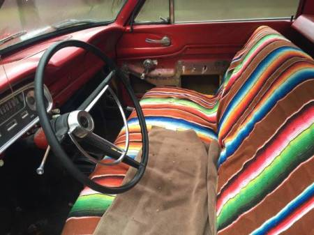 1961 Ford Ranchero interior
