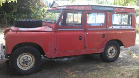 1967 Land Rover Series IIa left front