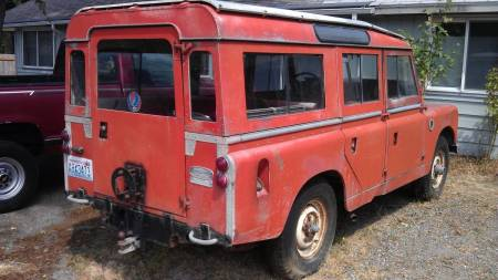 1967 Land Rover Series IIa right rear