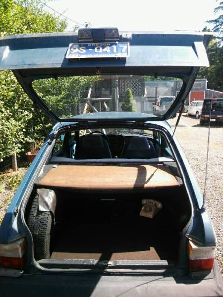 1979 Saab 900 GLE trunk