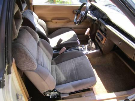 1981 Subaru GL hatchback interior
