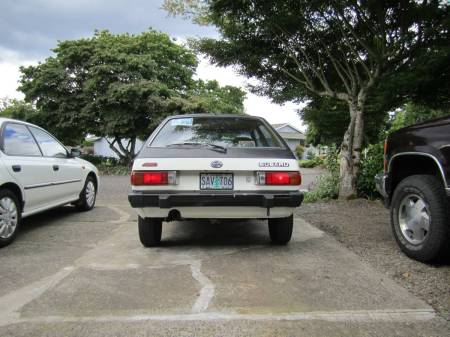 1981 Subaru GL hatchback rear