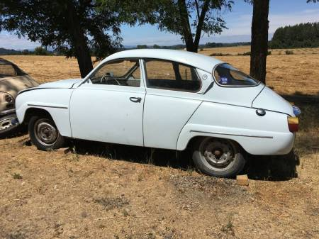1966 Saab 96 left rear