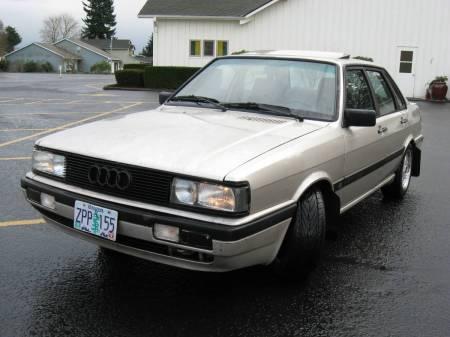 1987 Audi 4000 Quattro left front