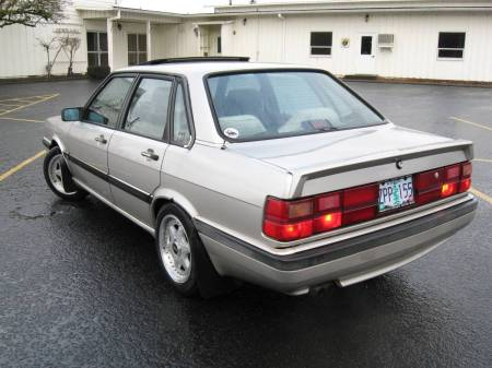 1987 Audi 4000 Quattro left rear